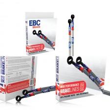 Метални спирачни маркучи EBC Brakes за HONDA CIVIC (FD2) 2.0 TYPE R 2007 - 2012