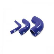 Силиконов маркуч Siliconhoses - редуциращо коляно 90 градуса - синьо