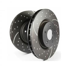 Предни спирачни дискове EBC Brakes за VW GOLF MK6 R 2.0T 2009 - 2013