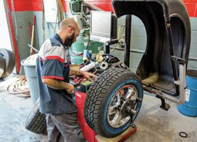 Tyre and Rim Assembly, Disassembly, and Balancing
